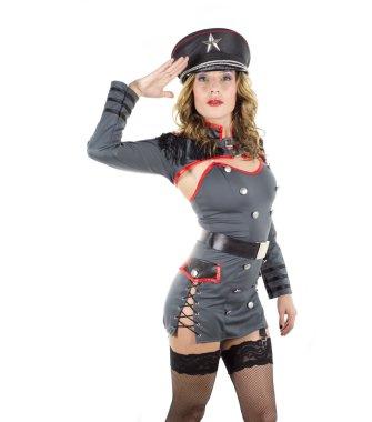 beautiful military woman
