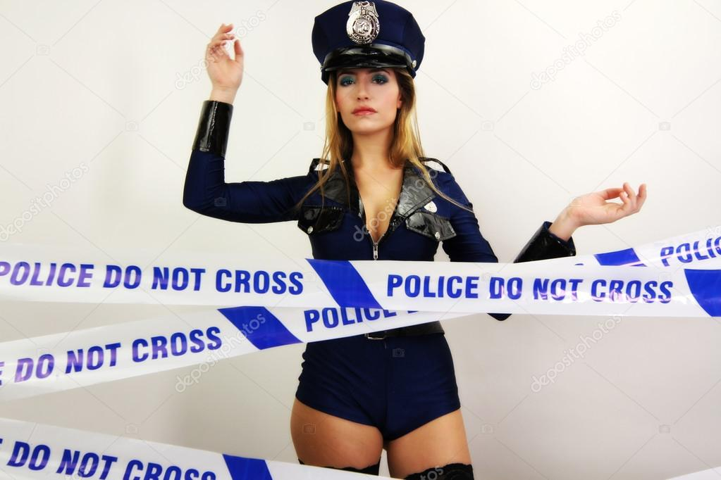 Sexy police woman — Stock Photo © dubassy #40645355
