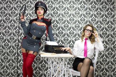 Military boss and sexy secretary