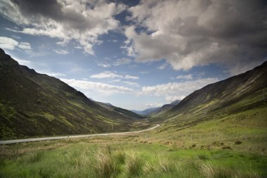 loch maree and mountain landscape in the scottish highlands