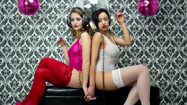 sexy Disco Vintage Frauen