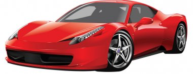 Red expensive sports car