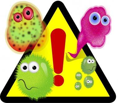 Germs warning