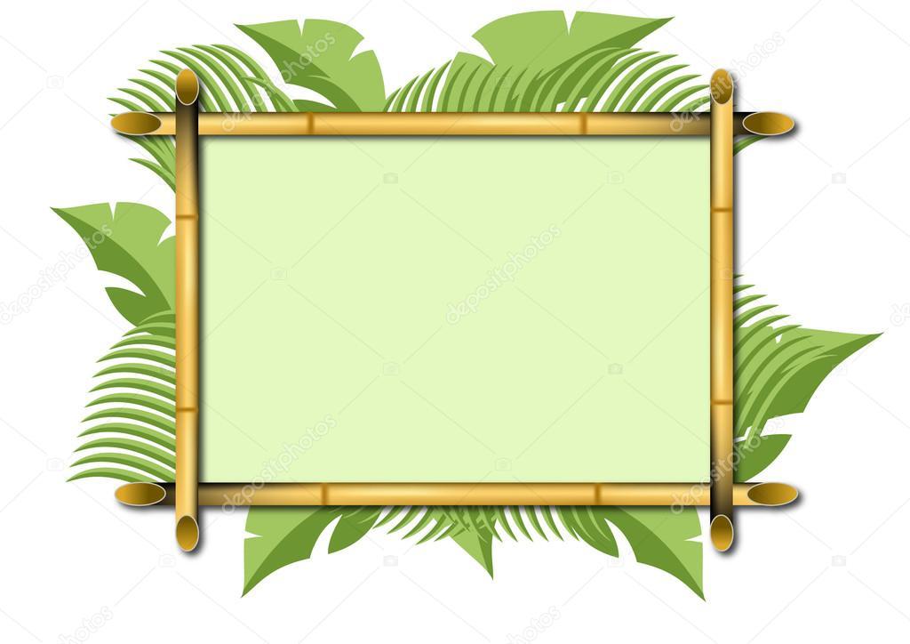 Bambus-Rahmen — Stockvektor © jamesstar #37291725