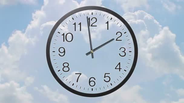 hodiny s mraky časová prodleva