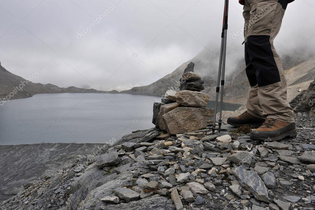 Trekking near the alpine lakes