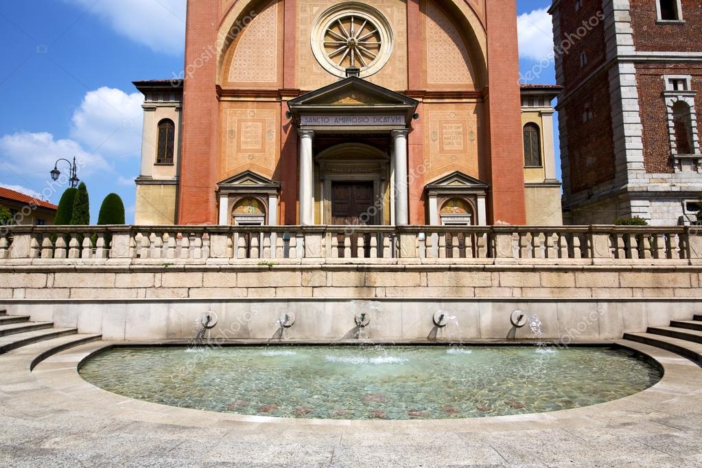lonate pozzolo varese vecchio muro terrazza campanile della Chiesa ...