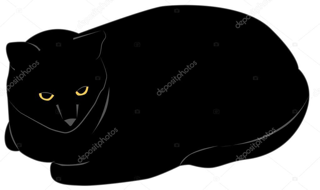 Chat Noir Image Vectorielle Elfijka 22192593