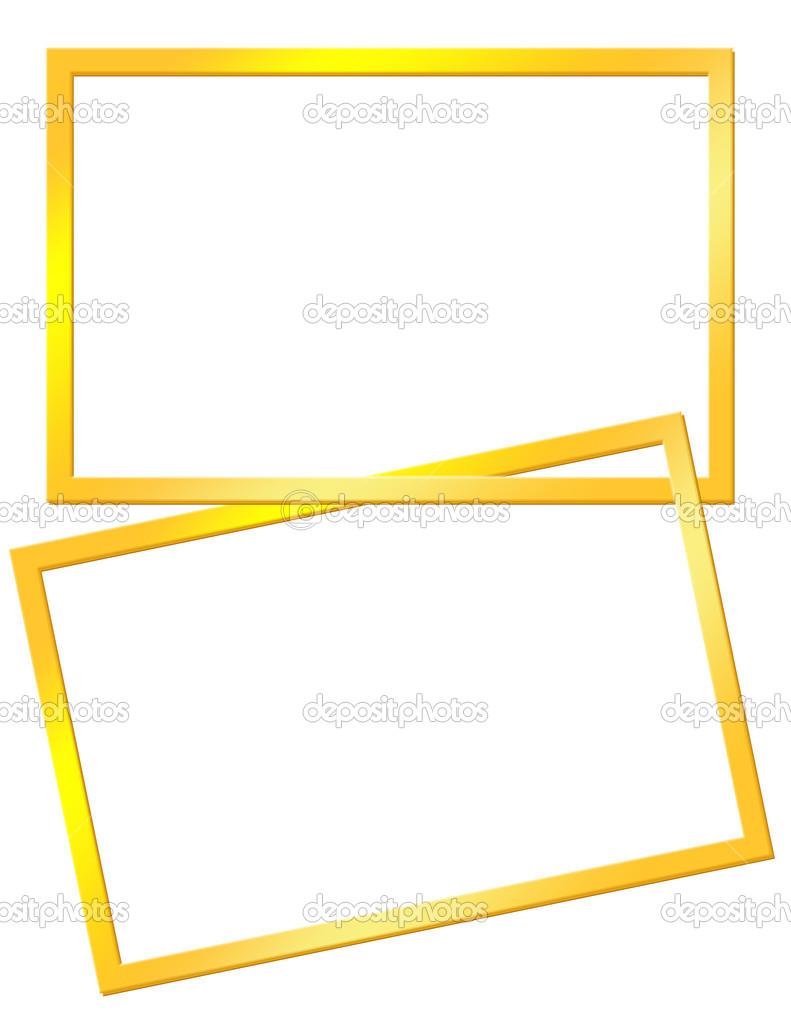 marcos amarillos — Fotos de Stock © elfijka #27428775