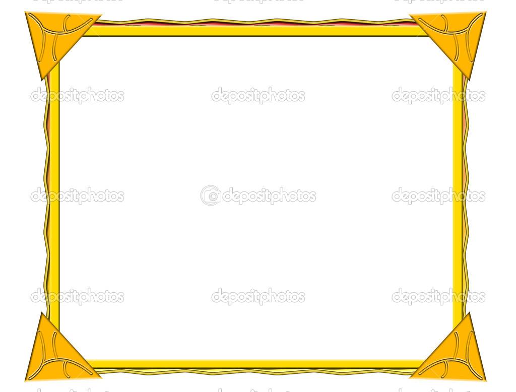 marco amarillo — Fotos de Stock © elfijka #32738099