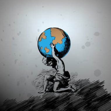 Atlas supporting the Earth