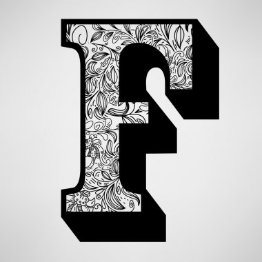 Letter F - Ornamental Initial