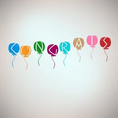 Congrats card with balloons