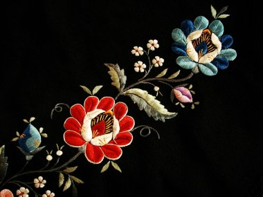 The folk embroidery
