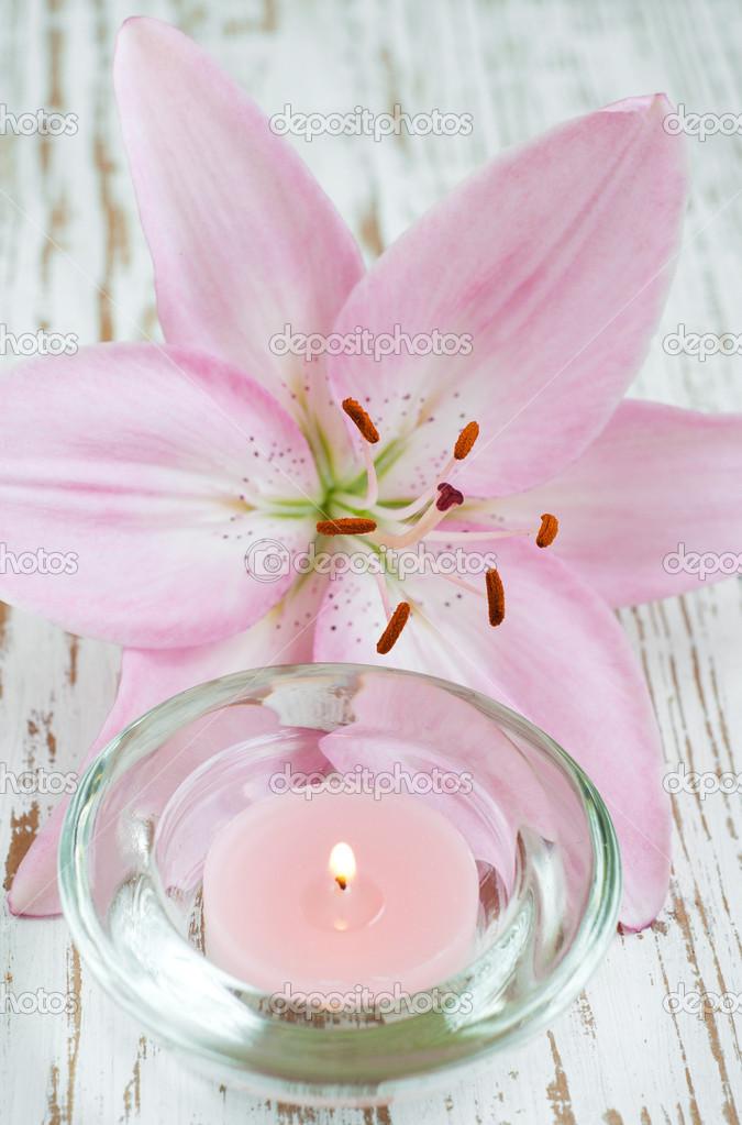 картинки цветок лилии и свеча форма настенных
