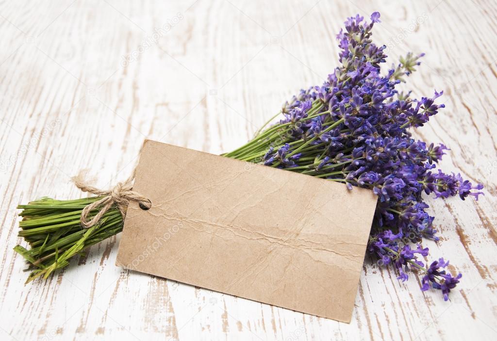 Lavender on vintage wood