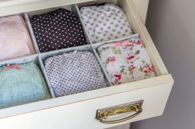 Female underwear ordered in a personal wardrobe