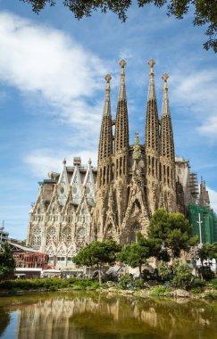 The Sagrada Familia cathedral in Barcelona, Spain