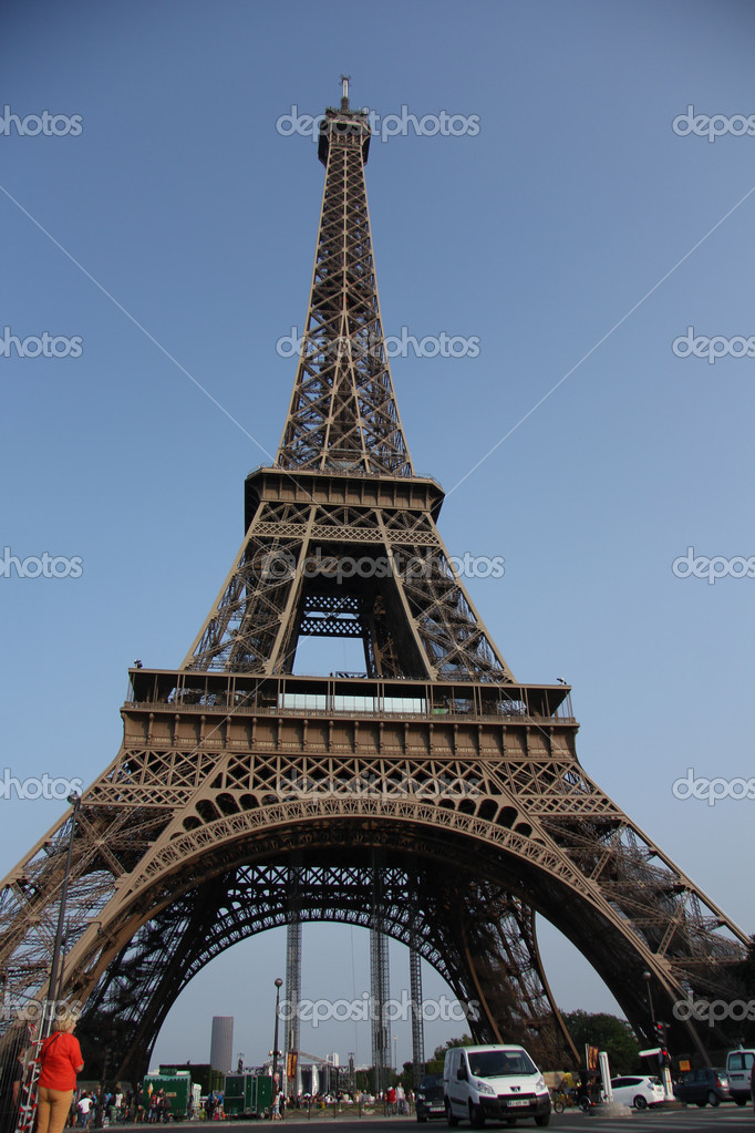 La torre eiffel paris francia foto de stock for La torre paris