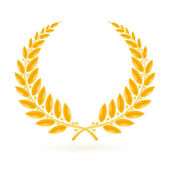 Fotografie Gold Laurel Wreath, vector