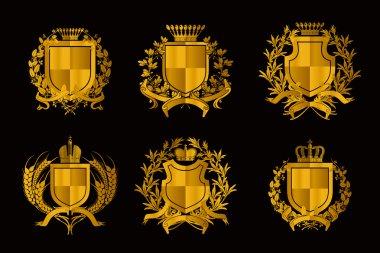 Shields, set of Design Elements