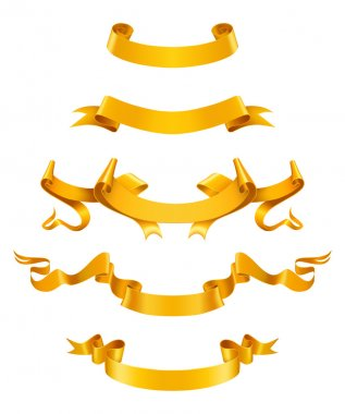 Gold ribbons, vector