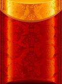 Altes Gold und roter Hintergrund, Vektor