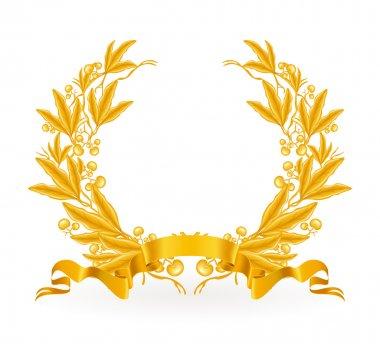 Gold Laurel Wreath, vector