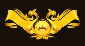 Fotografia elemento di design, oro emblema