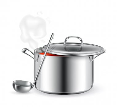 Hot soup, vector