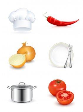 Kitchen, icon set