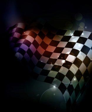 Dark Checkered Background
