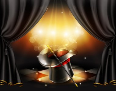 Magic tricks background