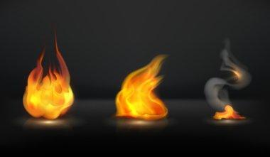 Flames set