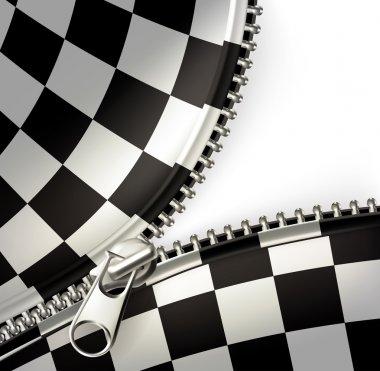 Zipper, checkered