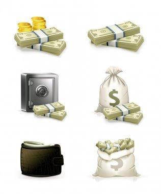 Paper money, set stock vector