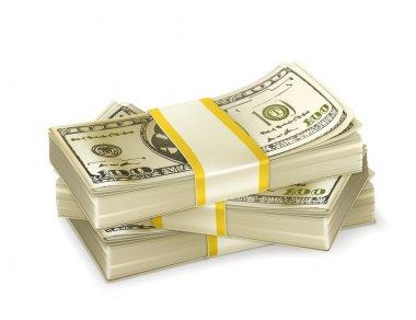 Stack of money stock vector