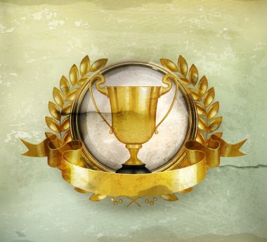 Golden Emblem old-style vector