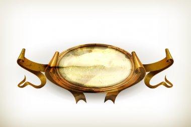 Gold Vintage frame, old-style vector