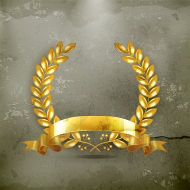 Gold wreath, old-style vector