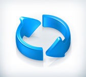 Blue ciclo frecce, vettoriale