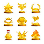 Gold awards, vector set