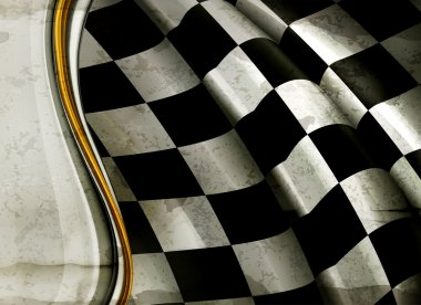 Horizontal Checkered Background, old-style vector