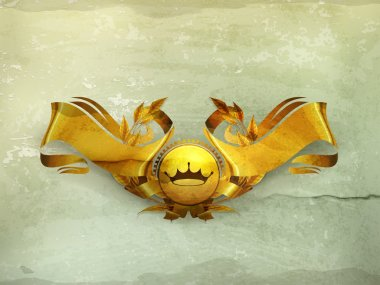 Design Element, Gold Emblem old-style vector