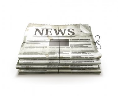 Newspaper, old-style vector isolated