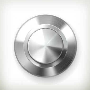 Metal button, vector