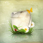 Fotografia cornice primavera, vecchio stile