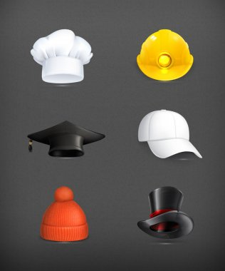 Hats set, vector