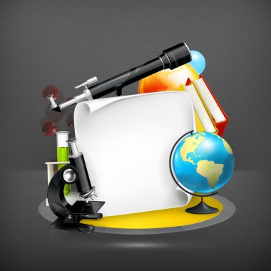 Education and Science frame, vector