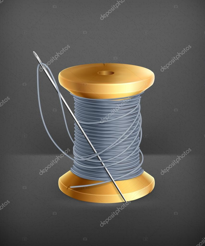 Spool of thread, vector — Stock Vector © natis76 #19321941